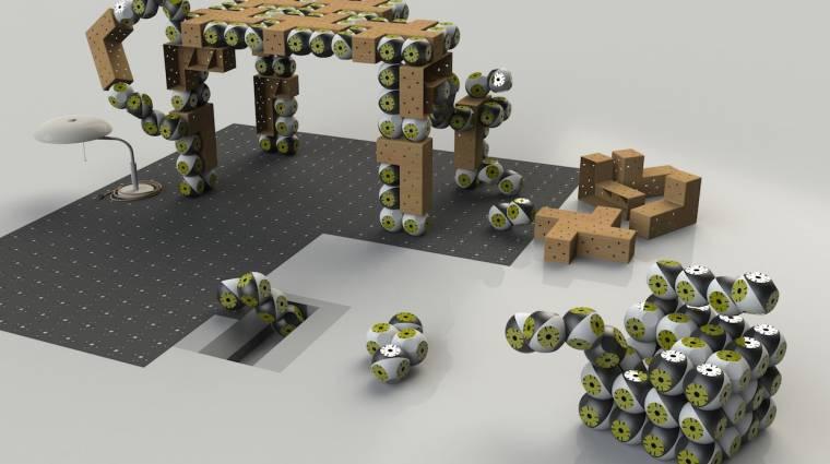 Itt vannak a bútorrá alakuló moduláris robotok kép