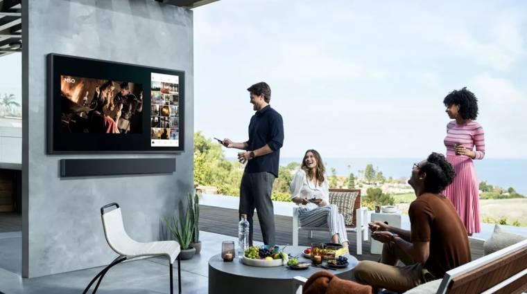 Szabadtéri 4K-s tévét mutatott be a Samsung kép
