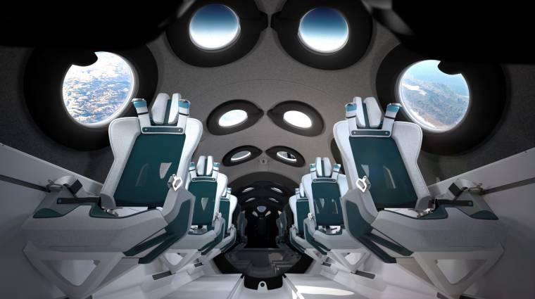 Így néz ki belülről a Virgin Galactic magánembereknek szánt űrhajója kép