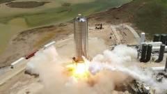 Kilőtték, aztán sikeresen leszállt a SpaceX Starship kép