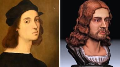 Olasz kutatók 3D-ben rekonstruálták Raffaello arcát kép