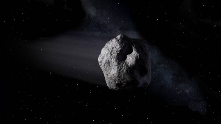 Mintát vesz egy aszteroida felszínéről a NASA kép