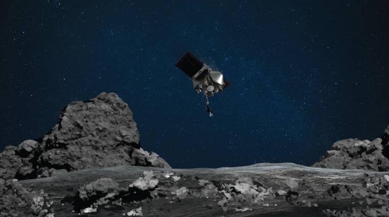 Sikeresen mintát vett egy aszteroidáról a NASA, de éppen elhagyja az űrben kép