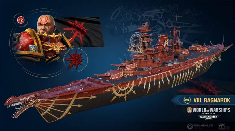 A World of Warships új, Warhammer 40K témájú hajókkal frissíti armadáját bevezetőkép