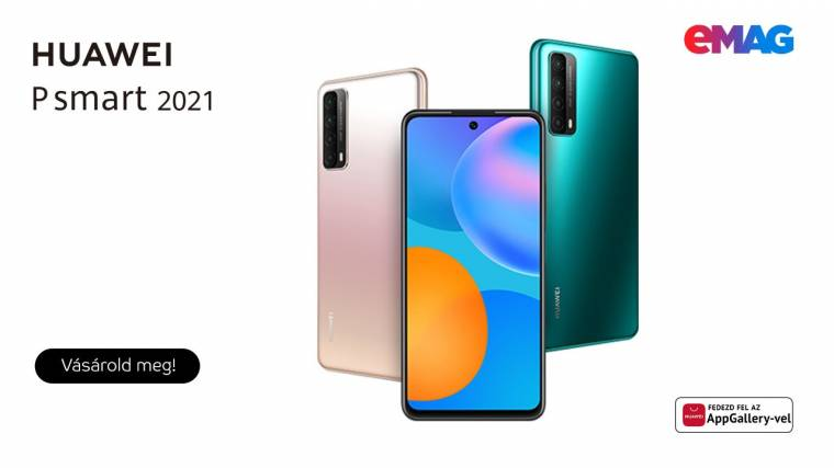 Huawei P smart 2021 mobiltelefonok az eMAG.hu-n