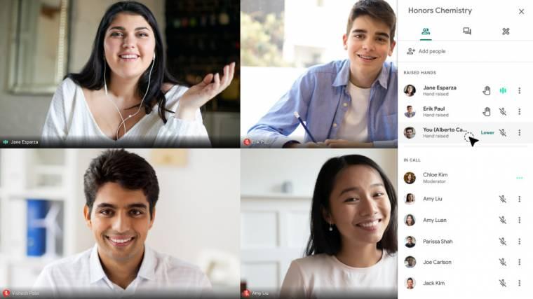Kérdések feltevése résztvevőknek a Google Meetben