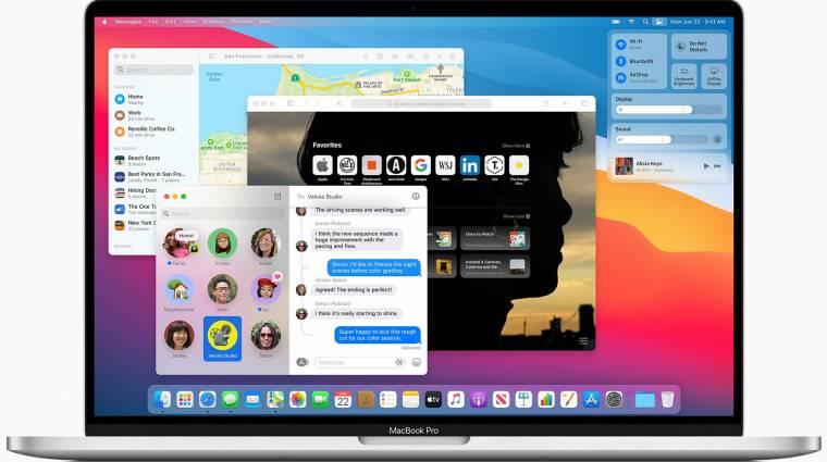 Itt a macOS Big Sur nyilvános bétája, alaposan átalakítja a rendszert az Apple kép