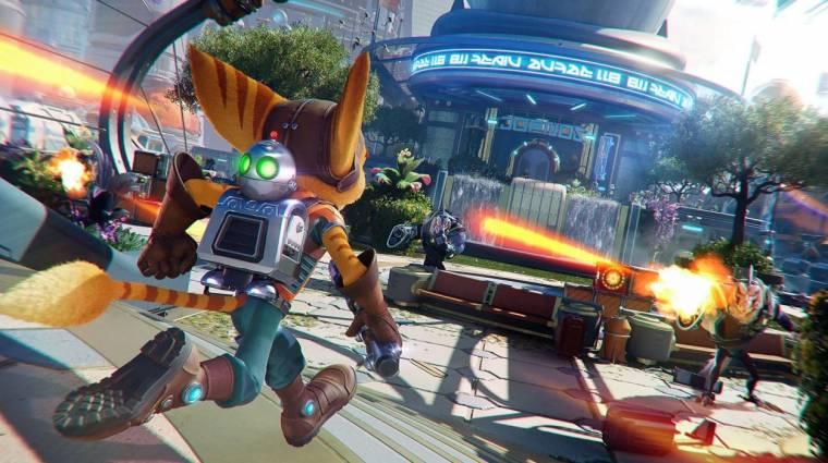 Lenyűgöző gameplay-t villantott a Ratchet & Clank: Rift Apart bevezetőkép