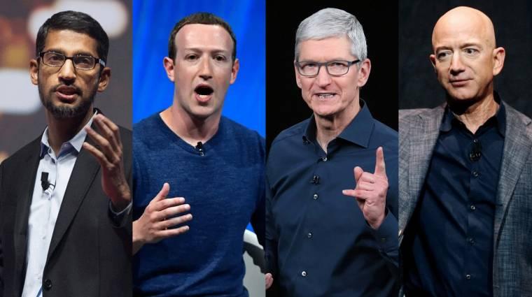 Együtt tanúskodik a Google, a Facebook, az Apple és az Amazon kép