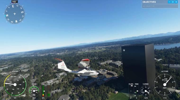 Valaki egy óriási Xbox Series X-et pakolt bele a Microsoft Flight Simulatorbe bevezetőkép