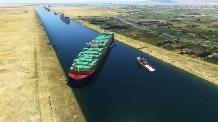 A Microsoft Flight Simulatorba is bekerült a Szuezi-csatornában ragadt hajó bevezetőkép