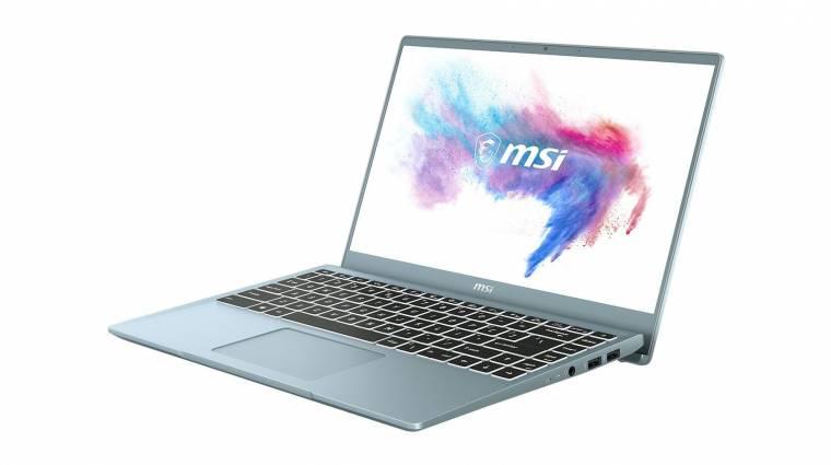 Trendteremtőknek készültek az MSI Modern 14 Bluestone laptopok kép