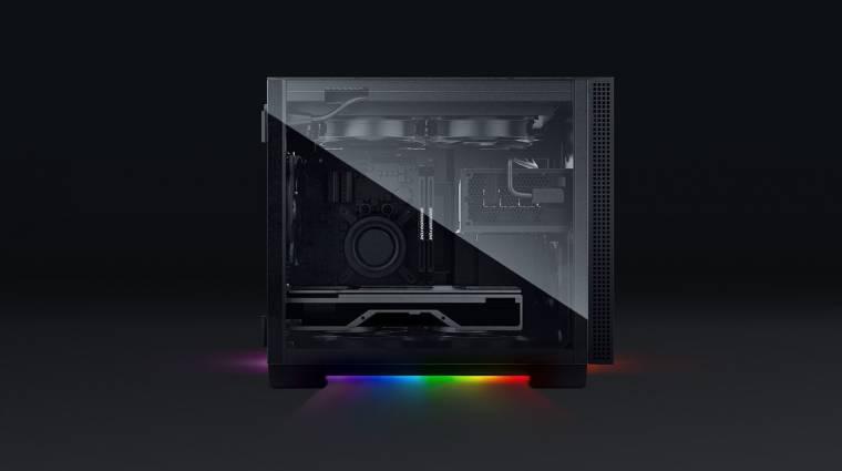 Szépen világít a Razer mini-ITX-es Tomahawk gépháza kép