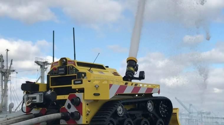 Már létezik hivatalosan is állományban lévő tűzoltórobot kép
