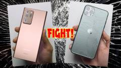 A Galaxy Note 20 Ultra lealázta az iPhone 11 Pro Max-et a törésteszten kép