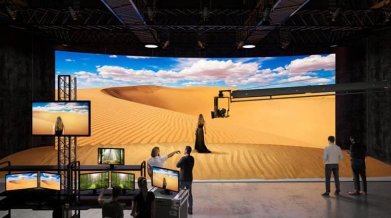 Virtuális hátteret és falakat épít a Sony a Crystal LED-képernyőkből kép