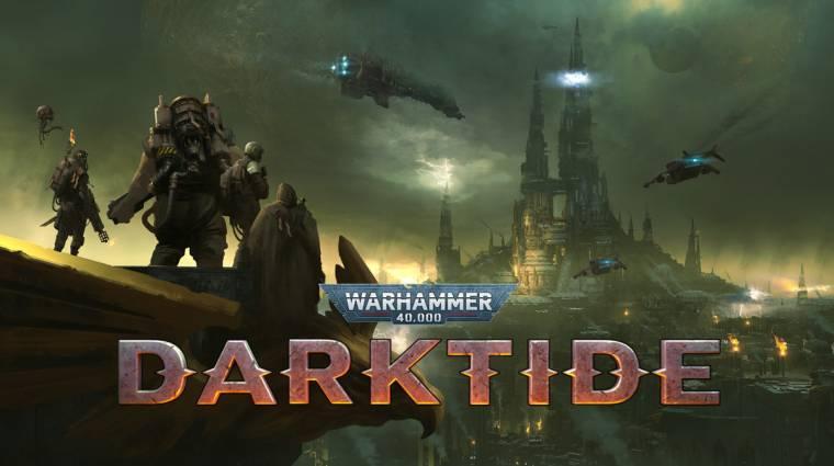 Halandó embereket állít szembe egy gigantikus kaptárváros veszélyeivel a Warhammer 40,000: Darktide bevezetőkép