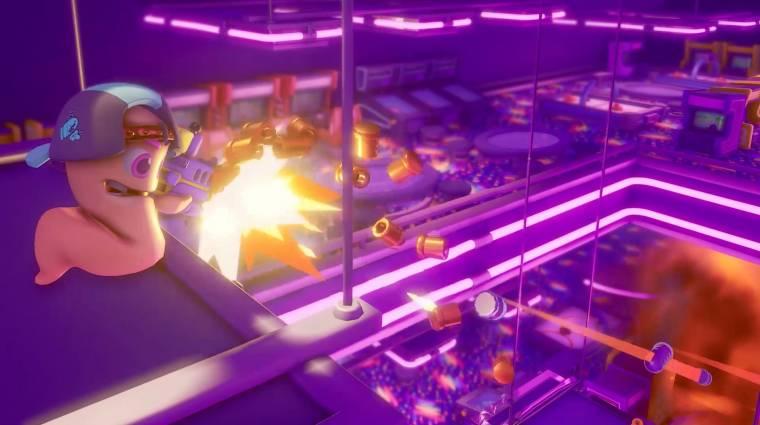 Egy 32 fős arena shooter lesz a Worms Rumble bevezetőkép