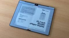 Jön az összehajtható e-papír, amire jegyzetelni is lehet kép