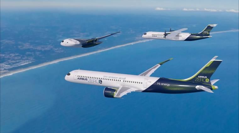 Sokkal jobb lehet a levegő a Földön az Airbus ZEROe repülőgépeknek hála kép
