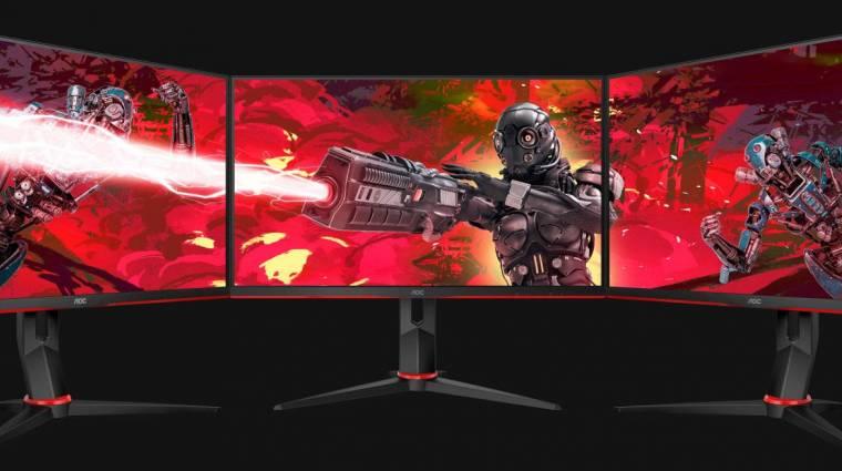 Magyarországon és világviszonylatban is az AOC áll a gaming monitorok piacának csúcsán kép