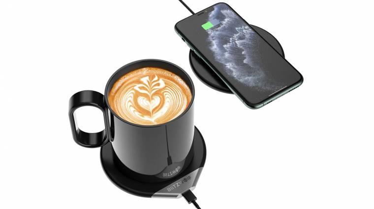 Ez a vezeték nélküli töltő a kávédat is melegen tartja kép