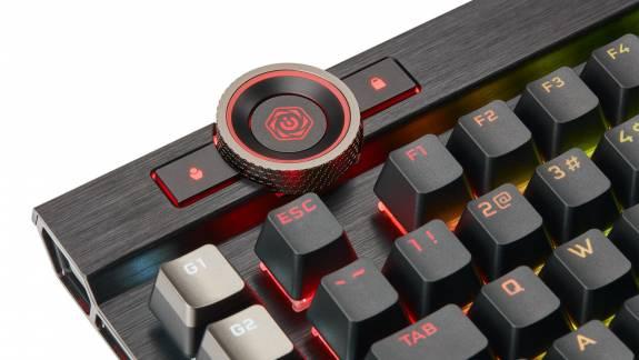 Corsair K100 RGB teszt - a világ leggyorsabb gamer billentyűzete kép