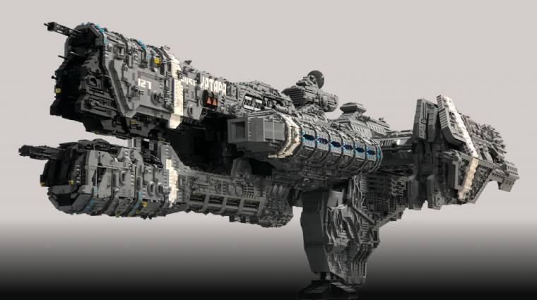 Egy rajongó 25 ezer LEGO-kockából épített Halo fregattot bevezetőkép