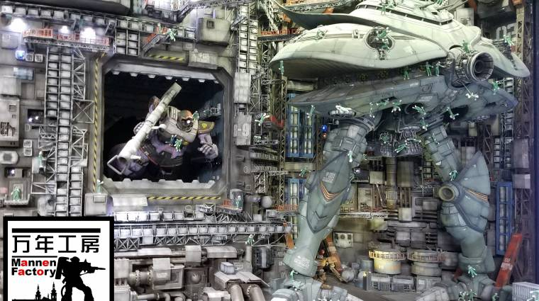 Egy modellező négy éven át dolgozott ezen a Gundam diorámán, megérte bevezetőkép