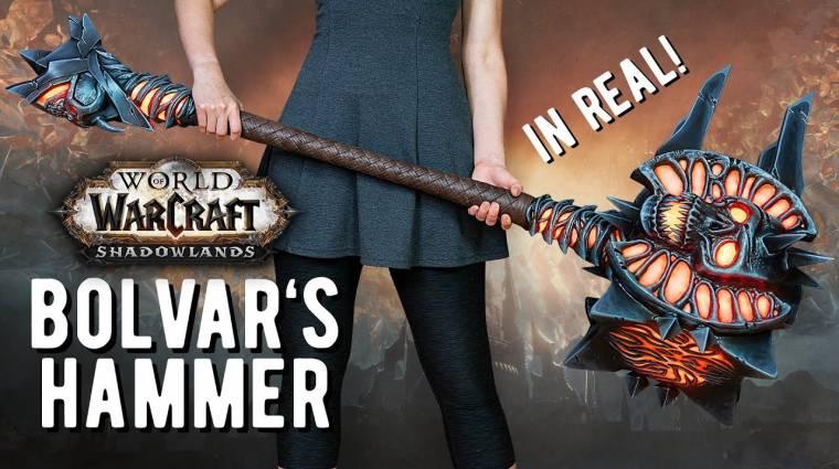 Füstöl és színt is vált a World of Warcraft: Shadowlands intrójában látott fegyver valódi mása bevezetőkép