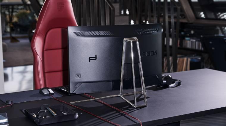 Új, Porsche dizájnú gamer monitort villantott az AOC kép