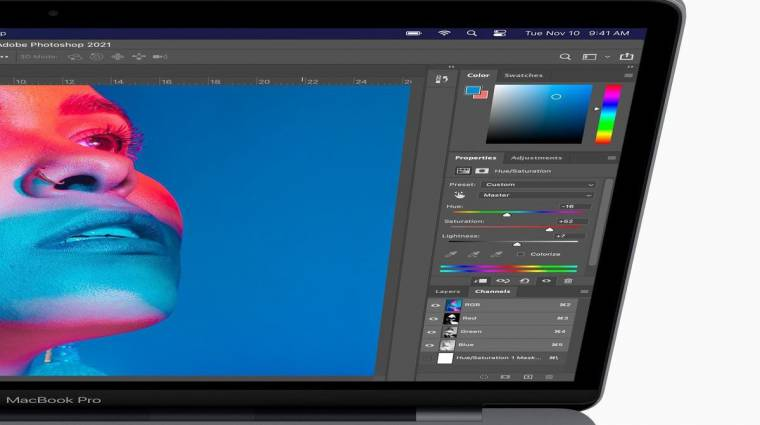 Jelentősen gyorsabb lesz az Apple M1-re fejlesztett Photoshop kép