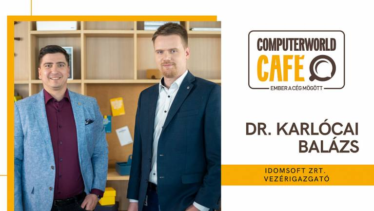 Computerworld Café: vendégünk Dr. Karlócai Balázs, az IdomSoft Zrt. vezérigazgatója kép