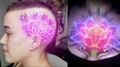 Elképesztően festenek a neon tetoválások, de ne rohanjatok ilyet varratni magatoknak kép