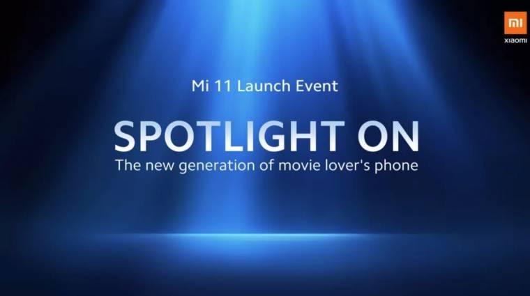 Ekkor jön a Xiaomi Mi 11 kép
