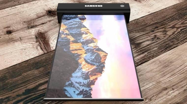 A Samsung is gördülő és csúsztatható kijelzőket készítene kép