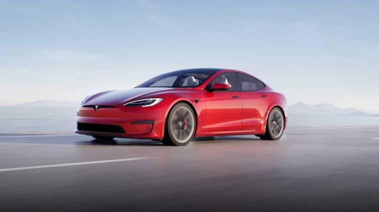 Segglyuk, nyílj ki! - ezzel a paranccsal lehet kinyitni a Tesla autók töltőnyílását kép