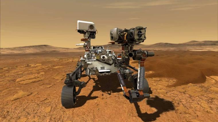 360 fokban forgatható, interaktív videóban nézheted meg, mit lát a Perseverance a Marson kép