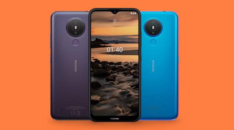 Olcsó, nagyképernyős telefon lesz a Nokia 1.4 kép