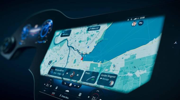 Egészen futurisztikus a Mercedes-Benz EQS műszerfala kép