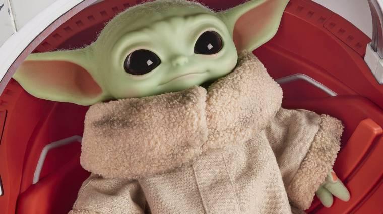 Star Wars luxus: a gyűjtőknek szánt Bébi Yoda-plüss gombnyomásra nyíló kapszulával érkezik bevezetőkép