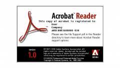 Az 1993-as Adobe Reader 1.0 kalózkodását sem tűri az Adobe kép