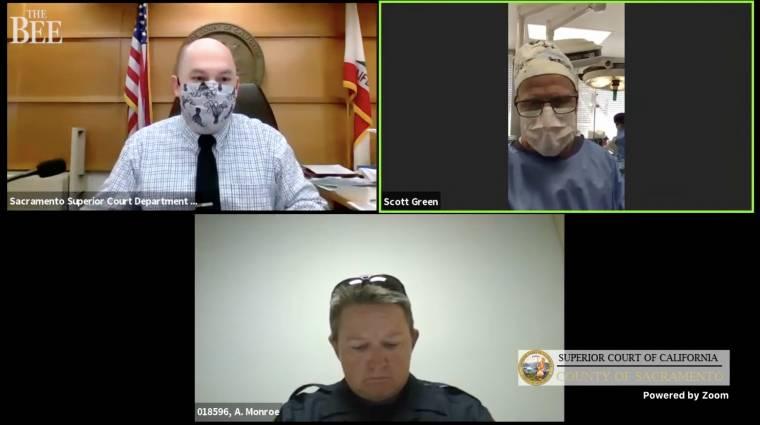 Műtét közben jelentkezett be bírósági meghallgatására egy kaliforniai sebész kép