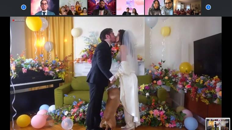 New York állam betiltotta a zoomos esküvőket kép