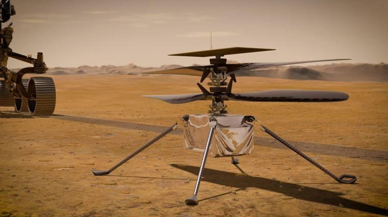 Ilyen még nem volt: felszállt az első minihelikopter a Marson kép