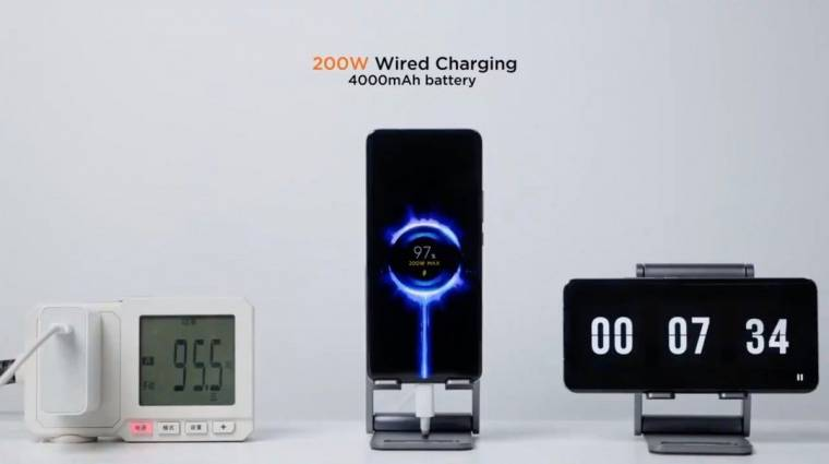 Gyilkolja az akkumulátort a Xiaomi 200 wattos gyorstöltése kép