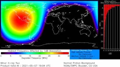 Komoly gondokat okozott egy erős napkitörés Észak-Amerikában kép