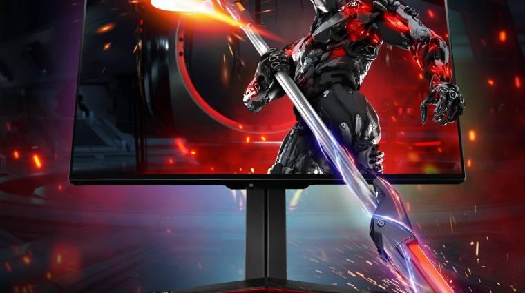 Csúcskategóriás gamer monitort villantott az LG kép