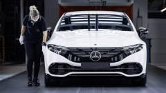 Indul az első teljesen elektromos Mercedes-Benz autó, az EQS gyártása Sindelfingenben kép