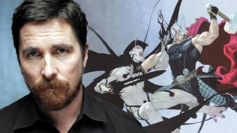 A Thor: Love and Thunder forgatási képein Christian Bale már Gorr, az istenölő jelmezében látható bevezetőkép